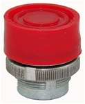 RM2-BP4...BOOTED METAL PUSH BUTTON, SPRING RETURN, RED COLOR