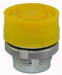 RM2-BP5...BOOTED METAL PUSH BUTTON, SPRING RETURN, YELLOW COLOR