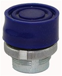 RM2-BP6...BOOTED METAL PUSH BUTTON, SPRING RETURN, BLUE COLOR