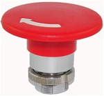 RM2-BS64...MUSHROOM HEAD METAL PUSH BUTTON, TURN TO RELEASE, 60MM, RED COLOR