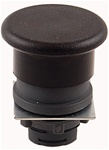 RP2-BC2...MUSHROOM HEAD PLASTIC PUSH BUTTON, SPRING RETURN, BLACK COLOR
