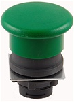 RP2-BC3...MUSHROOM HEAD PLASTIC PUSH BUTTON, SPRING RETURN, GREEN COLOR
