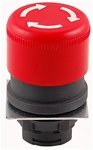 RP2-BS44...MUSHROOM HEAD PLASTIC PUSH BUTTON, TURN TO RELEASE TYPE, RED COLOR, 30MM KNOB SIZE