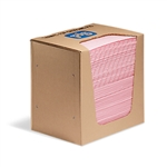 Pink Heavy Weight Absorbent Handy Pad in Dispenser Box