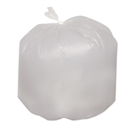 High Density 8 Micron Natural Can Liner - 24 in. x 33 in.
