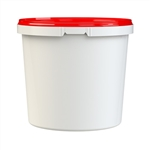 Round Shurelock Containers 5# White Tamper Evident - 80 Oz.