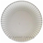 Medium Weight Claycoated Paper Plate White - 9 in.