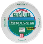 Label Paper Green Plate - 9 in.