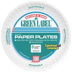 Green Label White Paper Plate Retail Pack - 6 in.