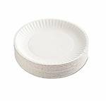 Green Label White Paper Plate Retail Pack - 9 in.