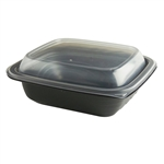 MicroRaves Wave PP Container and PP Lid Combo Pack - 16 Oz.