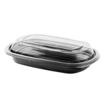 CDM416 and LC4LD Base With Combo RPET Lid Black and Clear Container