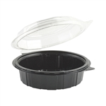 Gourmet Classics Clear Dome and Black Base Hinged Deep Clamshell - 7.5 in.