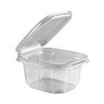 Safe Pinch Tamper-Evident 16 Oz. Clear Hinged Container - 6 in. x 5 in.