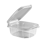 Safe Pinch Tamper-Evident 12 Oz. Clear Hinged Container - 6 in. x 5 in.