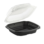 Culinary Classic 1 Compartment Clamshell Hinged Microwave - 9 in. x 9in. x 3.12 in.