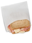 Dry Waxed Plain White Sandwich Bag - 6 in. x 0.75 in. x 6.5 in.