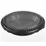 Pie Combo Black Base and Clear Dome - 12 in. x 13 in.