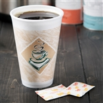 Cafe G ThermoGlaze Foam Stock Prints Cup - 16 Oz.