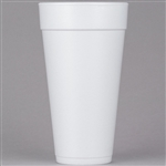 Tall Foam Cups White - 24 Oz.