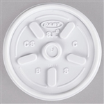 White Vented Lid For 8J8 6J8 Cup