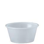 Solo Souffles Plastic Portion Containers Translucent - 2 Oz.