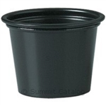 Plastic Souffle Portion Cups Black - 2 Oz.