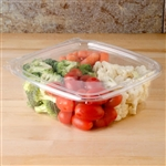 ClearPac SafeSeal Tamper-Resistant Tamper-Evident Containers with Flat Lid - 48 Oz.