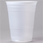 Solo Party Plastic Cold Cups Translucent - 16 Oz.