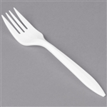 Style Setter Medium Weight Polypropylene Fork White