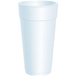 Dart Space Save Small White Plain Foam EPS Round Insulated Cup - 24 oz.