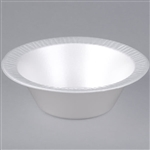 Quiet Classic Laminated Foam Dinnerware Bowl White - 12 Oz.