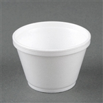 EPS Round Insulated Squat Food Container Foam White - 6 Oz.