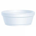 White Squat Foam Heavy Duty Food Container - 8 oz.