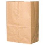 Duro 1/6 Satchel Bottom Barrel Sack Kraft 52# - 12 in. x 17 in. x 17 in.
