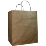 Bistro Shopping Bag Kraft - 10 in. x 6.75 in. x 12 in.