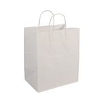 Bistro Shopping Bag 60# White - 10 in. x 6.75 in. x 12 in.