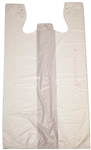 Jumbo Plain T-Shirt Bag White - 13 in. x 10 in. x 23.25 in.