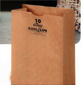 2 Lb. Grocery Bag Kraft 100 Percent Recycled - 4.31 in. x 2.44 in. x 7.88 in.