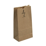 5 Lb. Grocery Bag Kraft 100 Percent Recycled - 5.25 in. x 7.44 in. x 10.94 in.