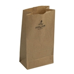 6 Lb. Grocery Bag Kraft 100 Percent Recycled - 6 in. x 3.63 in. x 11.06 in.