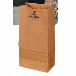 10- Lb Grocery Bag 100 Percentage Recycled Kraft - 6.31 in. x 4.2 in. x 13.38 in.