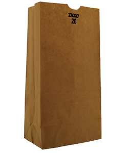 20 Lb. Grocery Bag Kraft 100 Percent Recycled - 8.25 in. x 5.31 in. x 16.06 in.