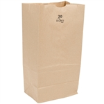 100 Percent Recycled Grocery Bag Paper Kraft 20 Lb. - 8.25 in. x 5.94 in. x 13.38 in.