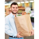 Handled Carry Bag Kraft - 12 in. x 7 in. x 17 in.