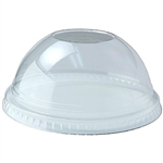 Plastic Dome Lid Clear No Hole