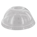 12 Oz Clear Polyethylene Round Dome Lid With No Hole