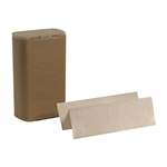 Brown Recycled Paper M-Fold Towel - 9.44 in. x 9.22 in.