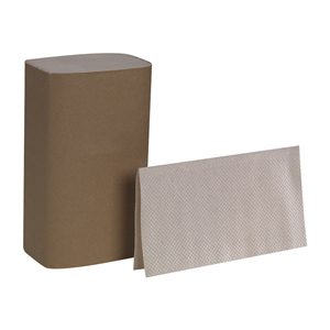 Envision Singlefold Brown 1 Ply Paper Towel - 9.5 in. x 10.63 in.