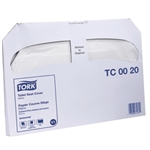 Tork Universal Advanced Toilet Seat Cover Half Fold - 14.5 in. x 17 in.